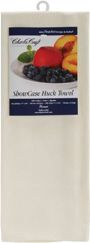 "Brand New Showcase Huck Towel 14 Count 15""""X25""""-Ecru Brand"