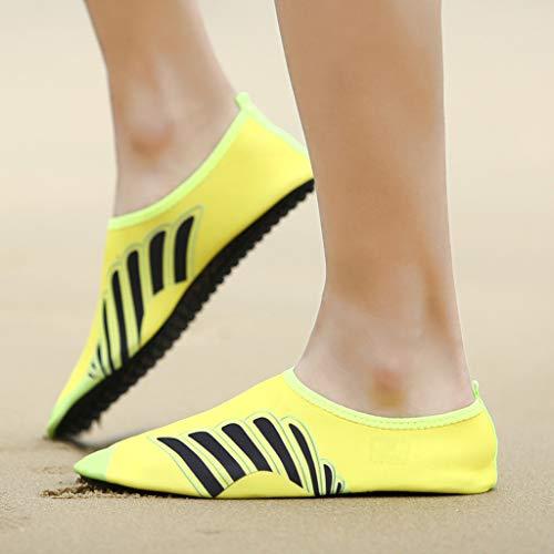 Men Women Yoga Water Shoes,Couple Summer Quick Drying Aqua Socks Barefoot Outdoor Beach Swim Slip-Proof Diving Shoes by Dacawin-Water Shoes (Image #4)