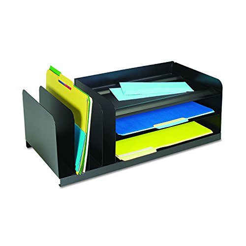 SteelMaster 264202004 Legal-Size Organizer, Seven Sections, Steel, 25 7/8 x 11 x 8 1/8, Black by MMF Industries