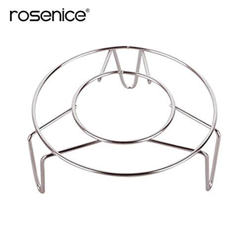 Steam Tray - 18 3cm Home Cooking Pot Steaming Tray Stand Stainless Steel Round Cooker Steamer Rack Cookware - Round Standing Stainless Shelf Grill Kitchen Bowl Stand Plastic Steamer Drain C ()
