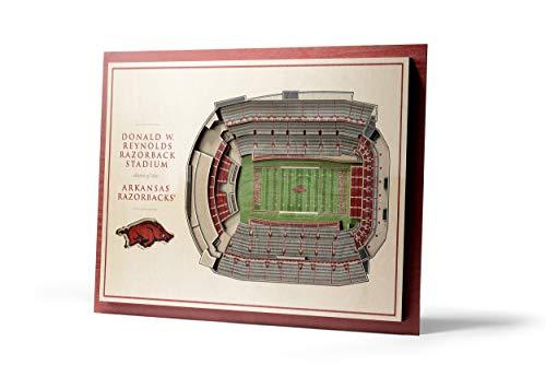 NCAA Arkansas Razorbacks 5-Layer Stadiumviews 3D Wall Art