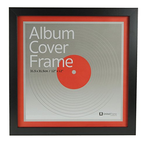 Best Record Album Cover Frame - Universal 12.5X12.5 LP Vinyl Cover Display. Quality European Craftsmanship with Eco-sourced Wood & Protective Glass