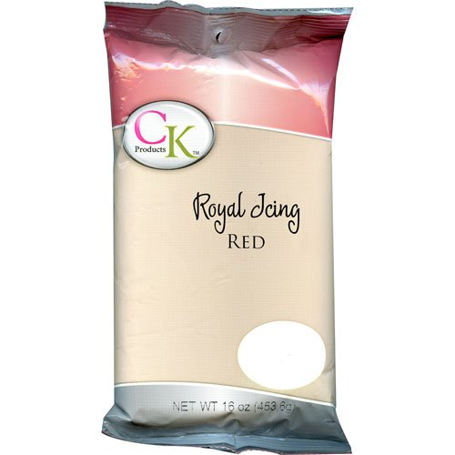 CK Products 77-101R Cake Decorating Royal Icing Mix, 1 lb, Red