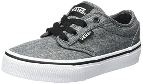 d9b1b57152c Galleon - VANS KIDS ATWOOD SHOES ROCK TEXTILE BLACK WHITE SIZE 2