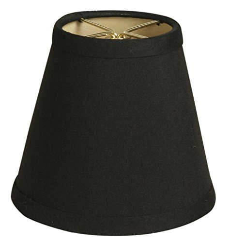 "Royal Designs 5"" Black Hardback Empire Chandelier Lamp Shade"