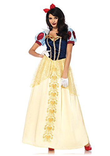Leg Avenue Plus Size Women's Deluxe Classic Snow White Halloween Costume, Multi, X-Large