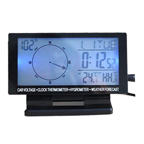 Gift4Car  Navigation Dashboard Car Compass Ornament inCar Digital Compass blueee LED 4.6  LCD Display Clock Thermometer Calendar