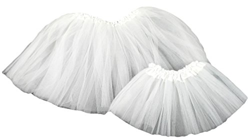 Hairbows Unlimited Dolly and Me Girls and Doll Ballet Tutu Set (White) - Ballet Dolly