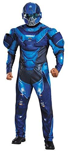 Mens Blue Spartan Muscle Adult Teen Costume 38-40 Mens Costume
