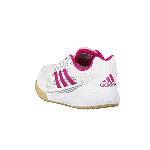 adidas Ba9427, Zapatillas de Deporte Interior Unisex Niños Varios colores (Ftwbla / Rosfue / Grimed)