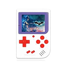 Pocket Game Console, Game Console Portable Retro Fc Handheld Game Console 3 Inch 129 Classic Game Console Birthday Gift Boy and Yourself,White