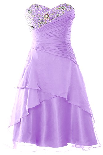 Prom Women Strapless Tiered MACloth Dress Cocktail Gown Formal Party Short Lavendel PtFdqdw