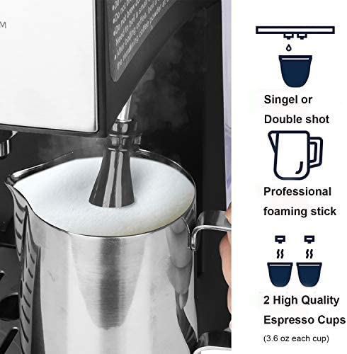 Gevi Machine577 Espresso Machine, 13 x 12.5 x 11, Black