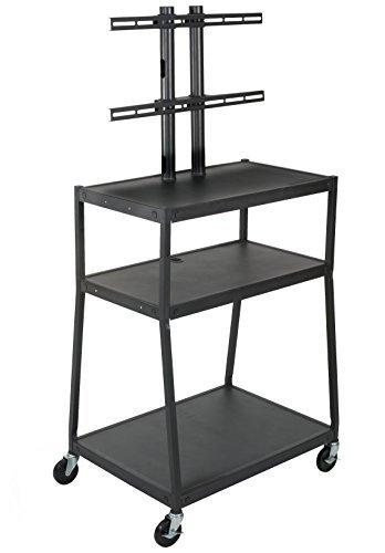 Wide Rolling Tv Cart - Balt Wide Body Mobile Flat Panel TV Cart, AV Cart, Black, 67