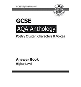GCSE Anthology AQA Poetry Answers for Workbook (Character & Voice) Higher- Common
