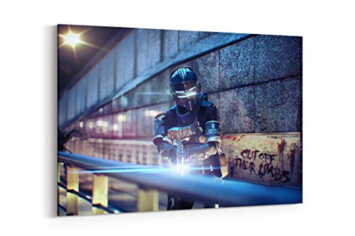 Dead Space 3 Game Hero Helmet Weapon - Canvas Wall Art Gallery Wrapped 26