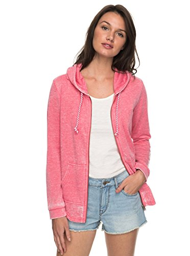 Mujer Con Cremallera Sunkissed Rouge Sudadera Roxy Capucha Moment B Red Y a8xqwTP