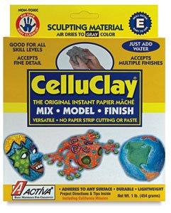 ACTIVA CelluClay Instant Papier Mache, 1 pound, - Malls Tx Plano
