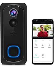 Video WiFi Doorbell Camera, Wireless Doorbell Camera with Chime,1080P HD PIR Motion Detection with 2-Way Audio,Night Vision, IP65 Waterproof, 32GB Card Pre-Installed