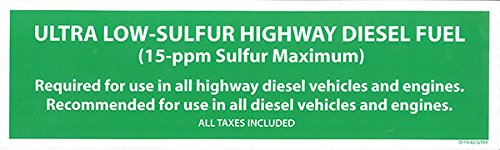 - Decals (Pack of 5) - Ultra-Low Sulfur Highway Diesel Fuel (3