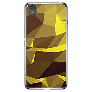 Loud Universe OnePlus X Geometrical Printing Files A Geo 13 Printed Transparent Edge Case - Yellow