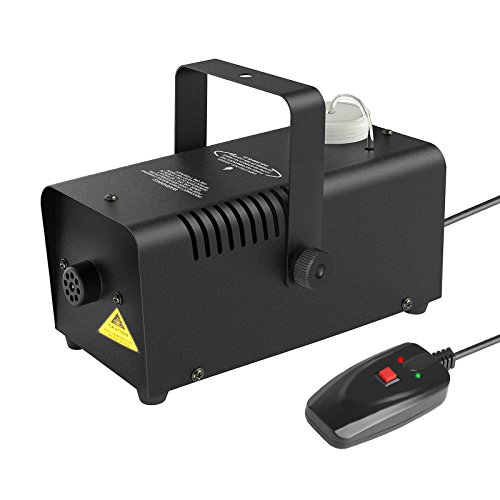 Portable Fog Machine 400-Watt Wired Remote Controlled Stage Smoke Machine for Halloween Party Weddings by heneng