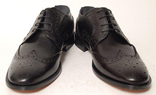 Antica Calzoleria Campana Schuhe   Mod. 7295   Brogue   Derby   braun, schwarz oder blau Schwarz
