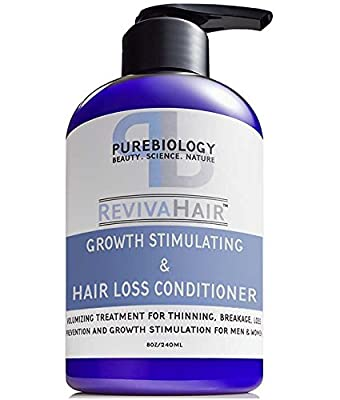Hair Growth Stimulating Conditioner (Unisex) with Biotin, Keratin & Breakthrough Anti Hair Loss Complex – Intense Hydration Post Shampoo for Men & Women