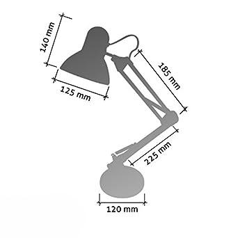 Flexo Serie Antigona Articulable Plata Con Bombilla LED: Amazon.es: Iluminación