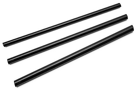 3 lengths of 8mm x 250mm Black Plastic/Acetal Rod Round Bar A-Stops