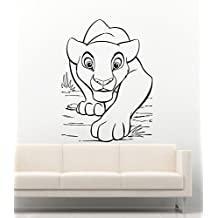 Disney Wall Decal For Boys Girls The Lion King Baby Simba Decor Vinyl Stickers MK2272