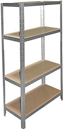 Lagerregal Archivregal Werkstattregal Shelf Creations Basic Schwerlastregal verzinkt 180 x 40 x 60 cm mit 6 B/öden Stecksystem aus Metall verzinkt: Metallregal geeignet als Kellerregal Ordnerregal