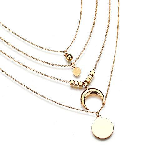 Sequin Antique Necklace - Molyveva Stylish Layered Sequins Choker Necklace Vintage Tassel Collars Openwork Bib Statement Jewelry