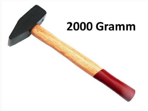 2000g Schlosserhammer mit Holzstiel