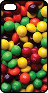 Skittle Candy Catch the Rainbow Black Plastic Case for Apple iPhone 5 or iPhone 5s
