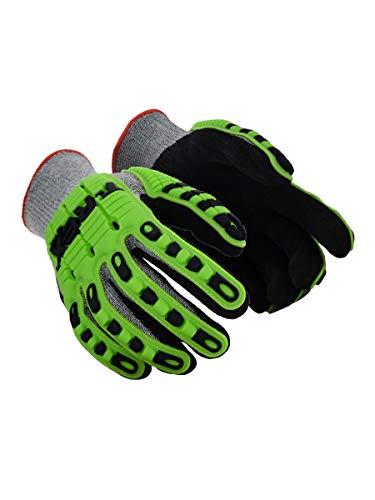 Magid Glove & Safety TRX450L T-REX TRX450 Lightweight Knit Impact Glove - Cut Level A6, Black, Large, HPPE -