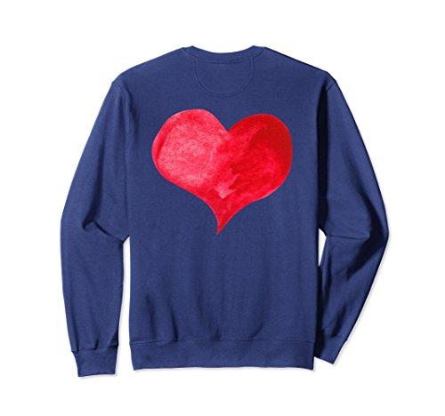 Unisex Love Heart Sweatshirt, Gifts For Men & Women Valentine's Day XL: Navy (Valentine Name Sweatshirt)