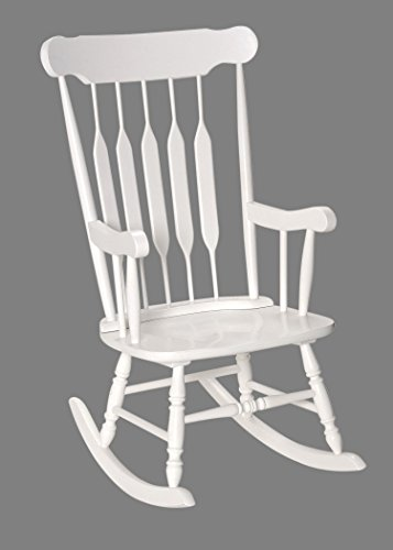 Adult Solid Wood Rocking Chair White by Gift Mark