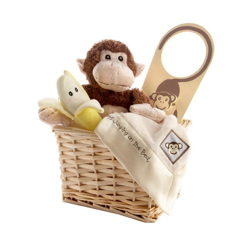 Baby Shower Gifts: Baby Aspen Gift Set with Keepsake Basket Five Little Monkeys