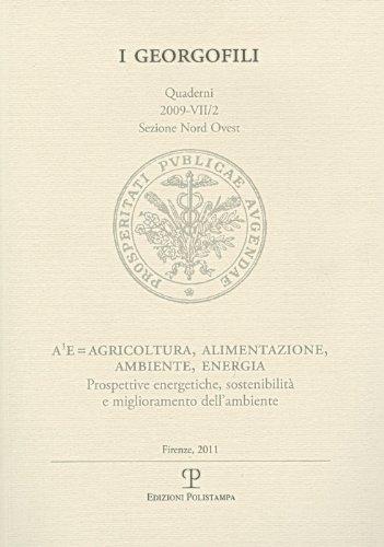 A³E=Agricoltura, alimentazione, ambiente, energia. Prospettive energetiche, sostenibilità e miglioramento dellambiente (Firenze, 25 marzo 2009) M. Fiala
