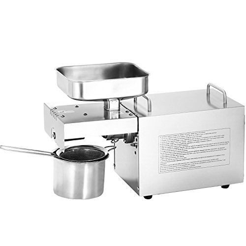 LOVSHARE Automatic Oil Press Machine Stainless Steel 95% Oil Yield Oil Expeller Machine 3 Settings Commercial Oil Press Machine Extractor for Home by LOVSHARE