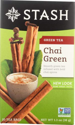 Stash Tea Tea Bags Chai Green - 20 - Tea Stash Green Chai