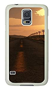 galaxy s5 case,custom samsung galaxy s5 case,TPU Material,Drop Protection,Shock Absorbent,white case,The evening of the highway