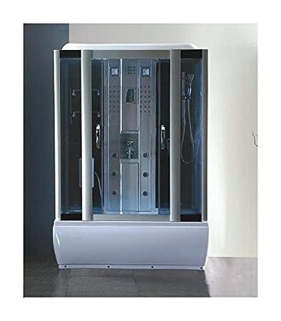 gd trade cabina box doccia con vasca idromassaggio da 150x85 con bagno turco e cromoterapia