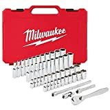 Milwaukee Electric Tools MLW48-22-9004 1/4in Ratchet & Socket Set - SAE & Metric
