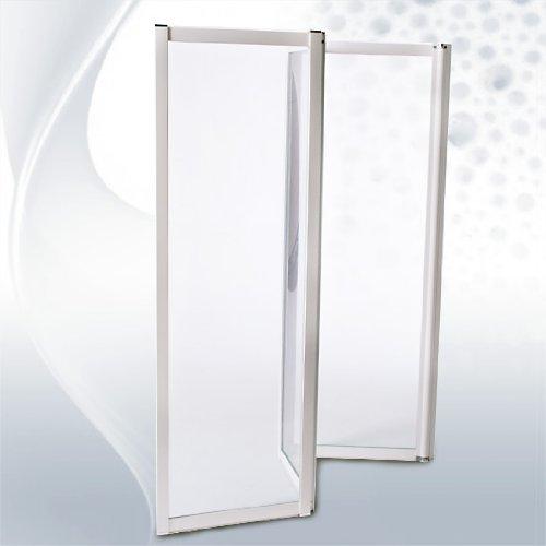 Duschwand kunststoff  Duschabtrennung bestehend aus 3 Faltelementen ca. 117 x 120 cm ...