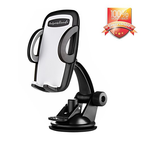 BUDGET & GOOD Windshield Dashboard Universal Car Mount, Cell Phone Holder for General Mobile Phones Car Holder for iPhone SE 7 7 Plus 6 6 Plus 5 5s 4s Android and Smartphones