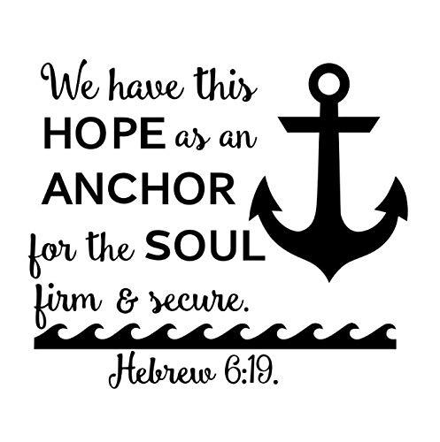 GKAWHH Hope Anchor Soul Etiqueta De La Pared Estilo Oceano Barco ...