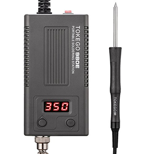Digital Display Soldering Iron Station,110to240V,Including Digital Portable Temperature Control and Soldering Iron Station with ON/OFF Switch, Tips, Solder Sucker, Solder Wire, Tweezers