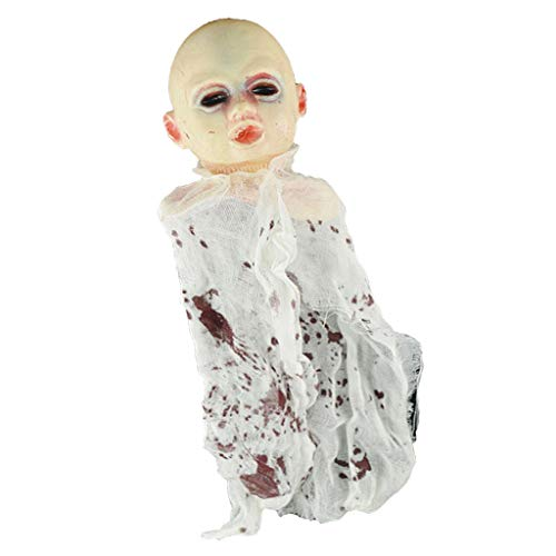 Fenteer Halloween Party Hanging Decoration Demon Bald Baby Ghost Doll Room Escape Game Accessory